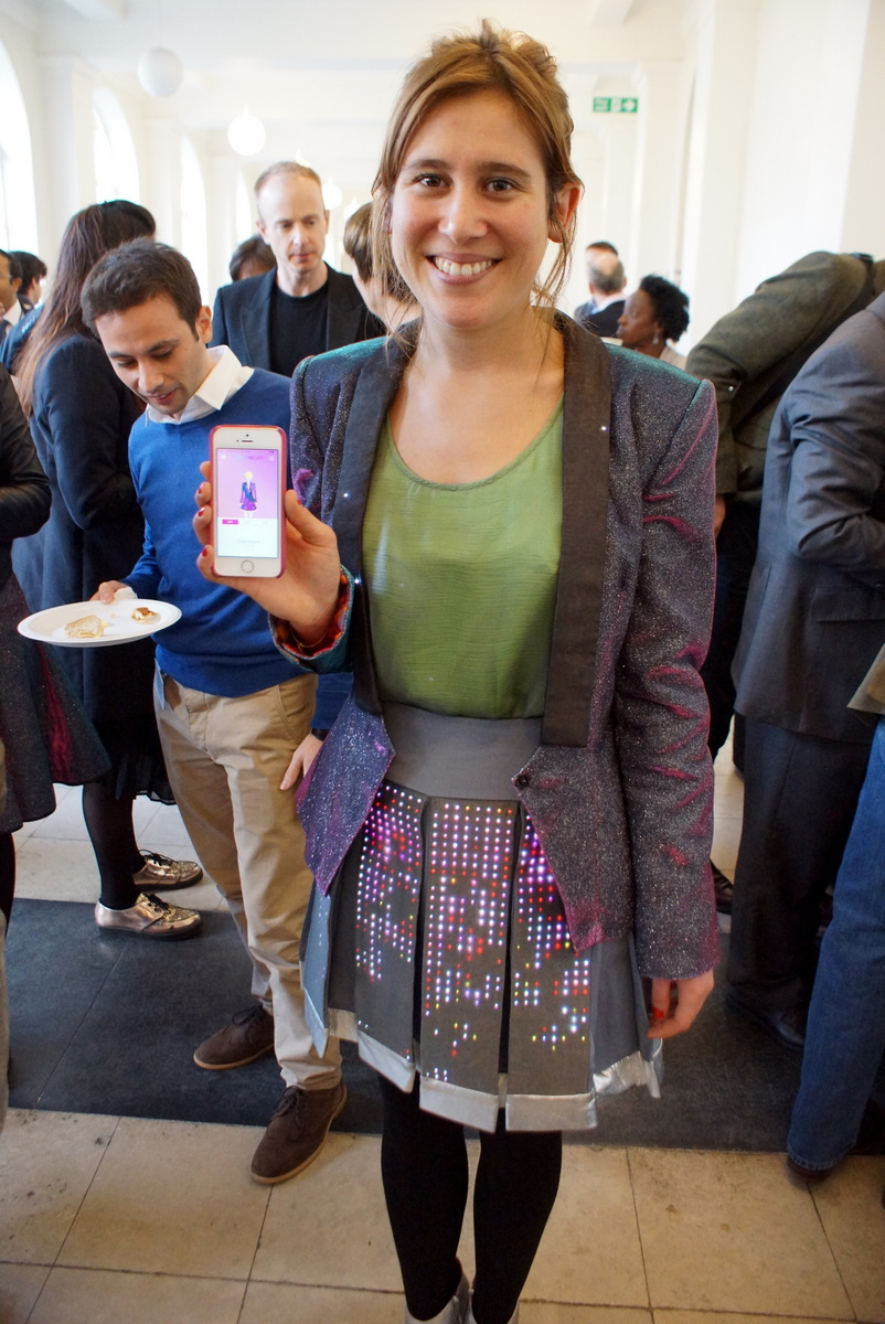 CUTECIRCUIT LED jacket and skirt