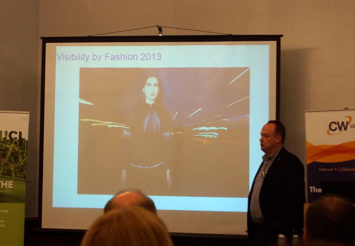 Koen van Os announcing that Philips will look to develop OLED's for the fashion market